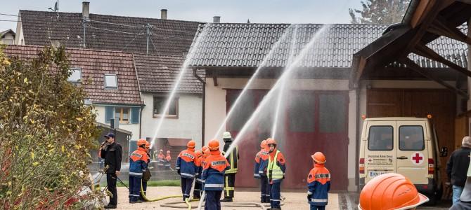 Kartoffelsäcke durch Schweißarbeiten in Brand geraten
