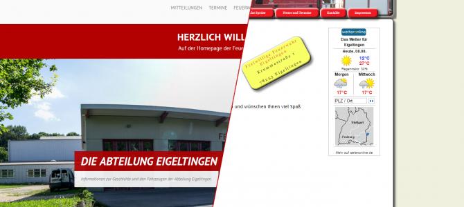 Neuer Webauftritt der Freiwilligen Feuerwehr Eigeltingen