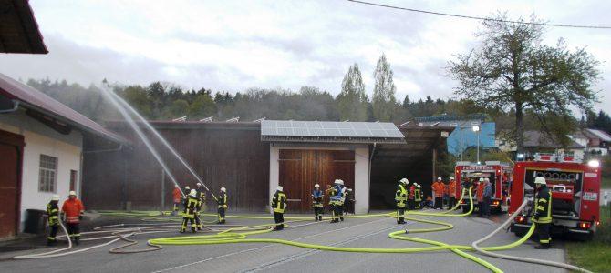 Gemeinsame Feuerwehr-Übung