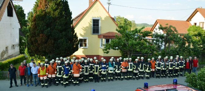 Vier Heudorfer Feuerwehren im Übungseinsatz