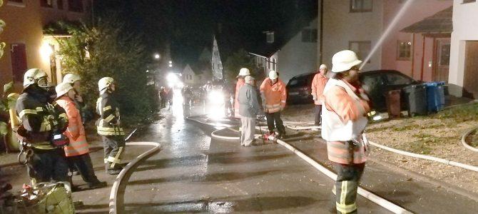 Einsatzabteilungen der Feuerwehr Eigeltingen üben gemeinsam