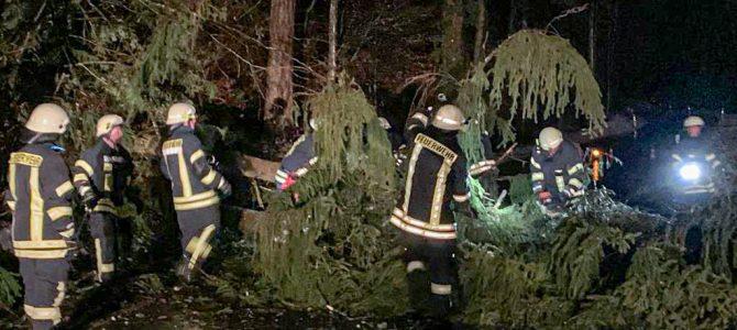 Mehrere Unwettereinsätze der Feuerwehr Abteilungen Eigeltingen